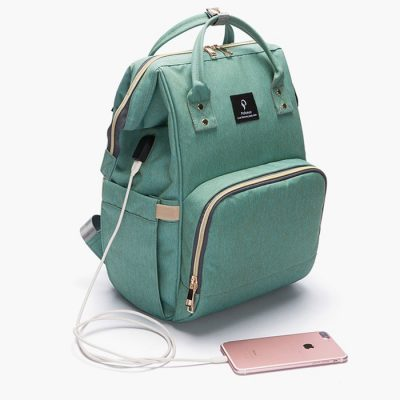 diaper bag with usb mobile charging