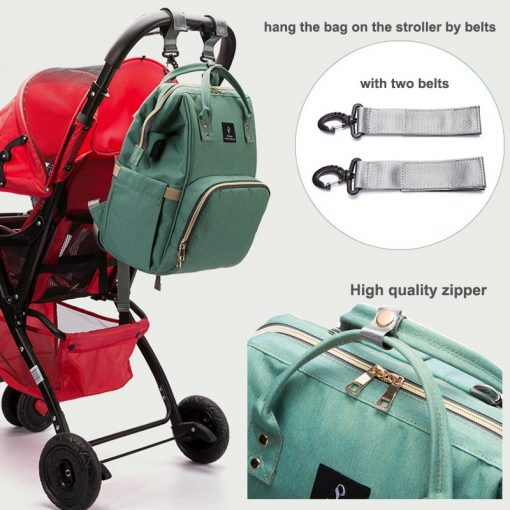 large diaper bag with pram clips