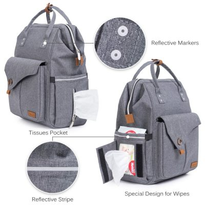 Pixiy Maternity Diaper Bag backpack with lots of space