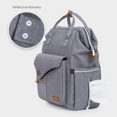 Pixiy Maternity Diaper Bag backpack with easy excess to get wet wipes