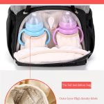 Bently Nappy Bag backpack with insulated pocket for milk bottle