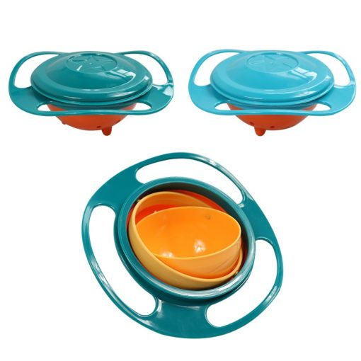 Spill Proof Food Bowl Green with lid