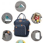 Baby Diaper Bag Backpack Blue Dot with lots of storage