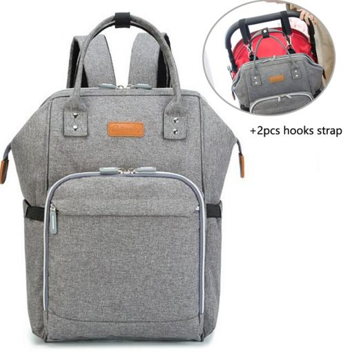 Baby Diaper Bag Backpack Grey