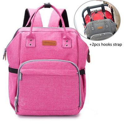 Baby Diaper Bag Backpack Pink