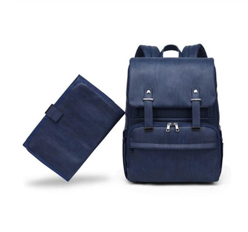 Luna diaper bag backpack blue with chaging pad