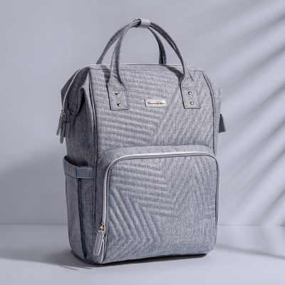 Dune Nappy/Diaper Bag Backpack Grey