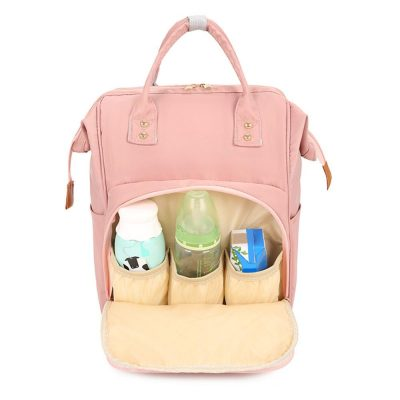 Candy diaper bag Backpack with three milk bottle storage