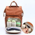 Casey nappy bag backpack with insulated pocket for milk bottle