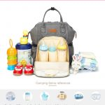 Nori Nappy bag backpack with insulated pocket for milk bottle