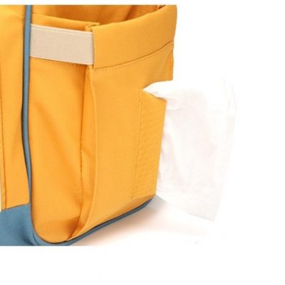 side tissue pocket for easy access