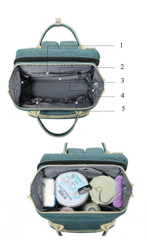 Avery Nappy Bag Backpack with big storage