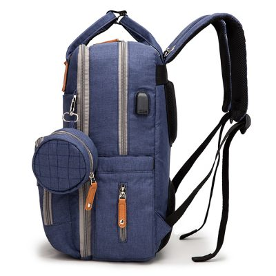 Enzo diaper bag backpack with small bag for dummy or coins