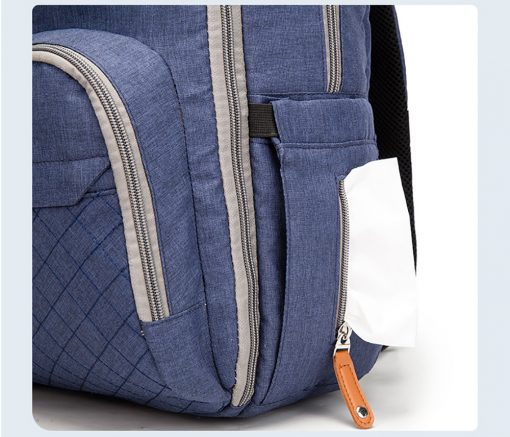 Enzo diaper bag backpack with tissue pocket