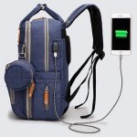 Enzo diaper bag backpack with USB port