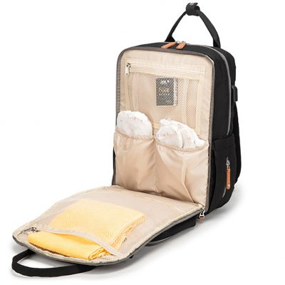 Enzo diaper bag backpack seperate compartment