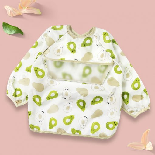 Baby Long Sleeve Apron Avacado