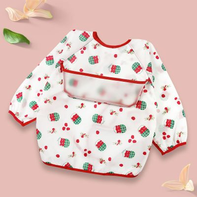 Baby Long Sleeve Apron Berry