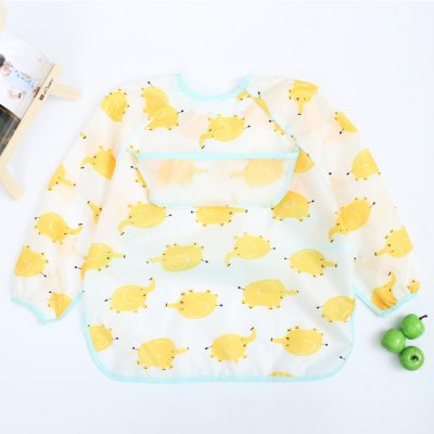 Baby Long Sleeve Apron Elephant