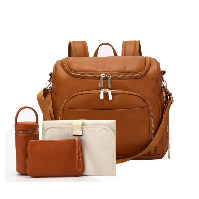 London vegan leather diaper bag backpack