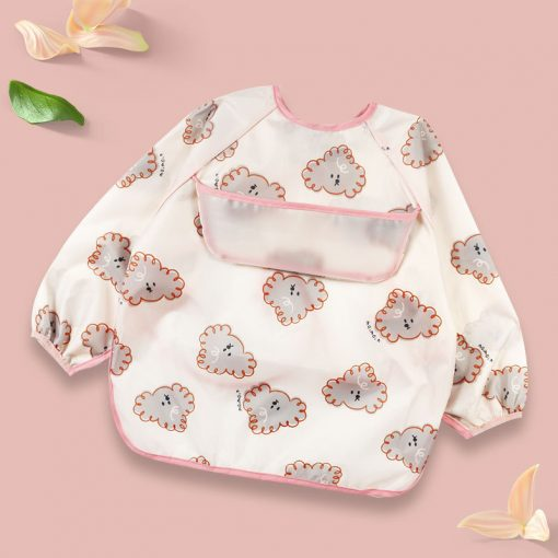 Baby Long Sleeve Apron cloud face