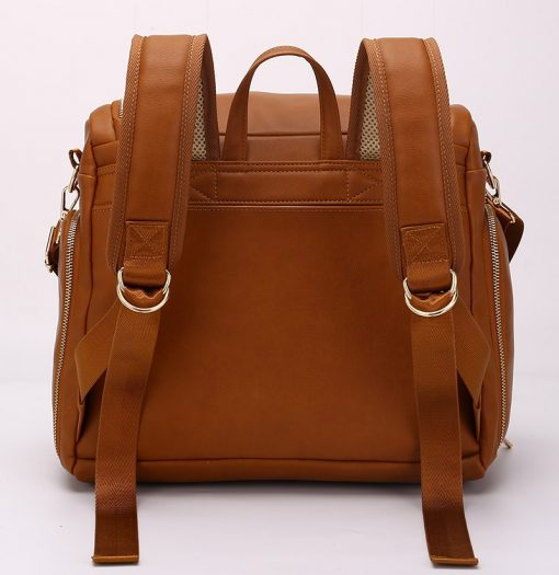London vegan leather diaper bag backpack with comfort for back