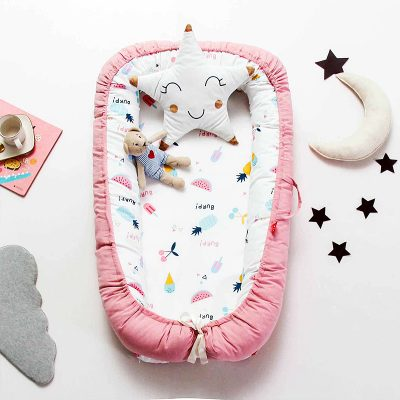 Baby Bed Isolation Crib Bassinet Pink family