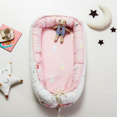 Baby Bed Isolation Crib Bassinet Pink rabbit